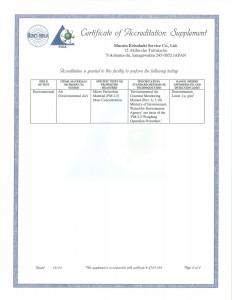 ISO 17025 認定証