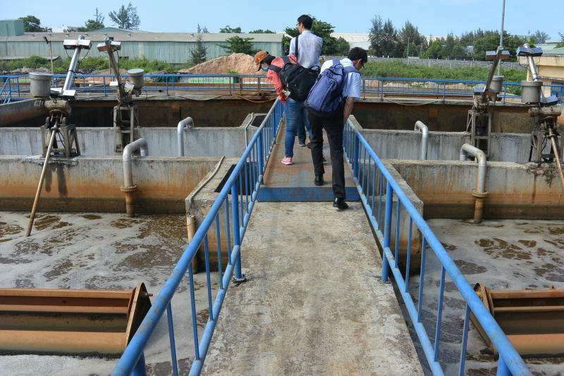 ダナン市の工業団地の排水処理施設の視察(JICA案件化調査)_2018年6月